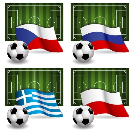 Participating Group A of Europe s biggest soccer competition Stock Vector - 13986672