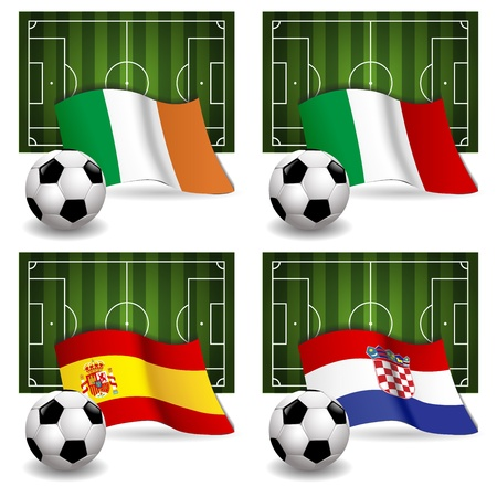 Participating Group C of Europe s biggest soccer competition Stock Vector - 13986677