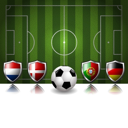 biggest: Participating Group B of Europe s biggest soccer competition Illustration