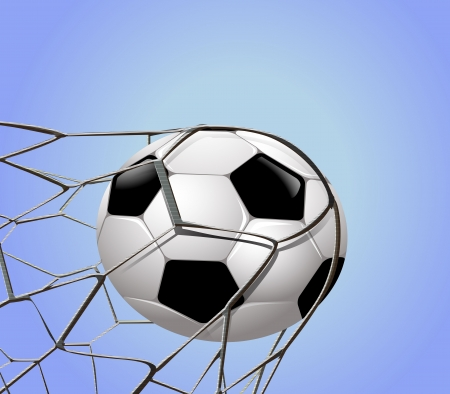 soccerball: focus on the ball at the Goal