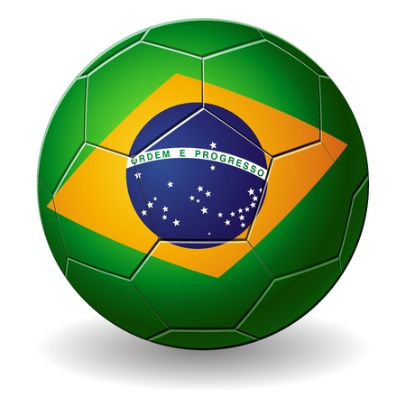 Design of a Brazilian soccer ball isolated on a white background