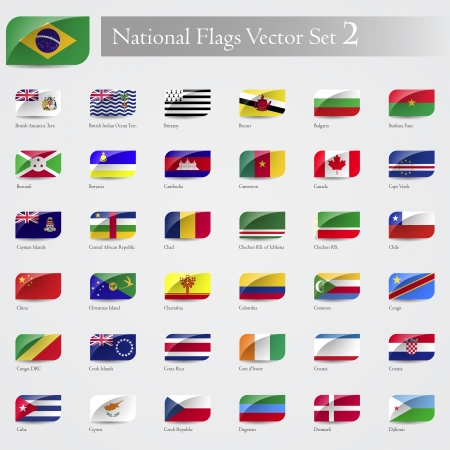 emboss: National Flags of the world emboss and round corner set 2