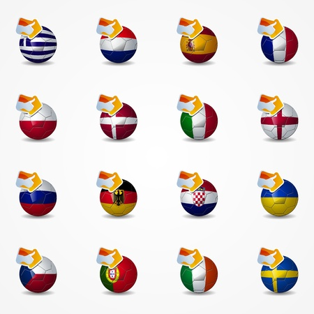 re: Click like Icon Ball Europe soccer you re like the team Illustration