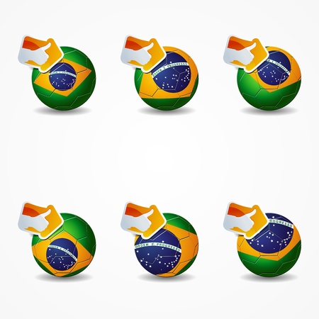 Click like Icon Ball brazil you re like the team Stock Vector - 14025851