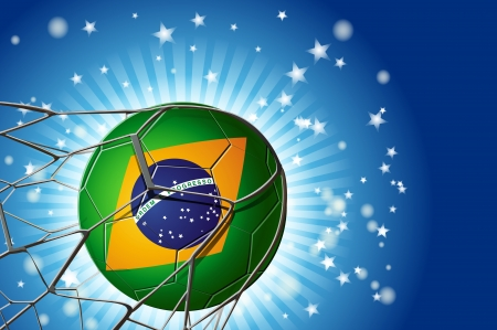 focus on the Ball brazil at the Goal Vector