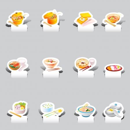 soba: paper cut various soba noodles set