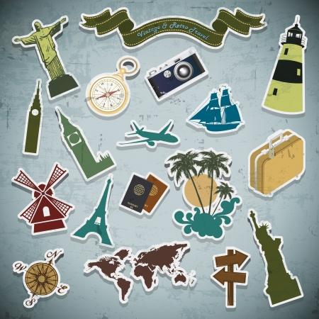 pisa: retro vintage Vakantie, vakantie, reizen op grunge achtergrond Stock Illustratie