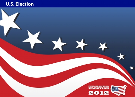 2012 U S  Presidential Election poster and background Vector