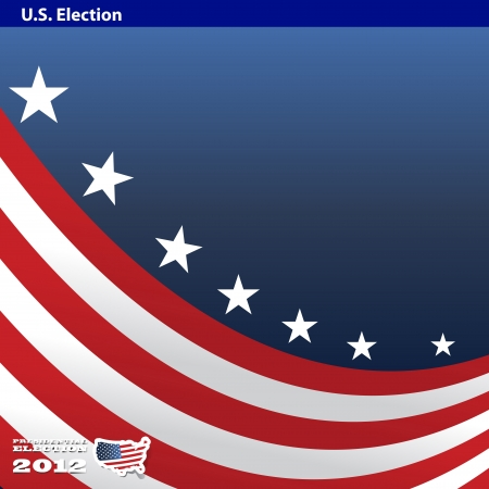 liberal: 2012 U S  Presidential Election poster and background Illustration