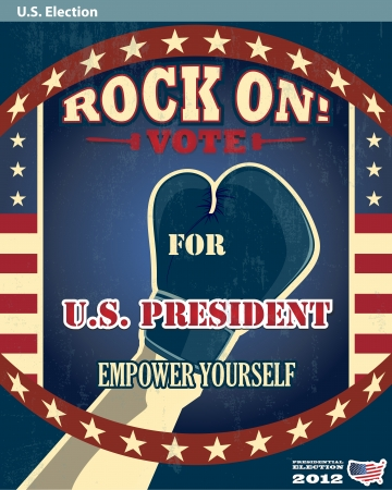 US presidential 2012 election rock the vote poster Vector