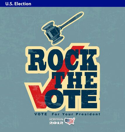 US presidential 2012 election rock the vote poster Stock Vector - 14267305