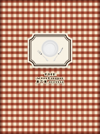 vintage restaurant menu design vintage concept Vector