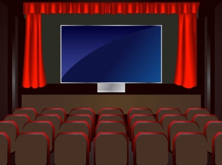 BIG LCD the cinema in the home Stock Vector - 14377307