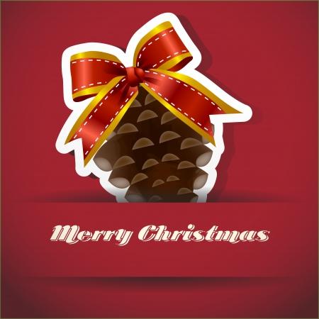Christmas Pine nuts Christmas card Stock Vector - 14479795
