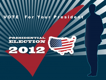 2012 U S  Presidential Election poster and background Stock Vector - 14698863