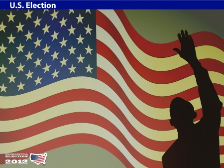 2012 U S  Presidential Election poster and background Stock Vector - 14698883
