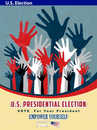 2012 U S  Presidential Election poster and background Stock Vector - 14698871