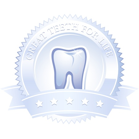 emblem medal tooth great teeth for life Stock Vector - 14698874