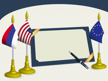 treaty: The signed agreement between USA and Russia with Europe