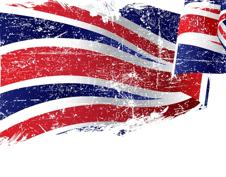 gewerkschaft: Isolated grunge Gro�britannien Flagge mit Kopie Raum