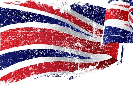 union: Isolato grunge bandiera Regno Unito con copia spazio Vettoriali