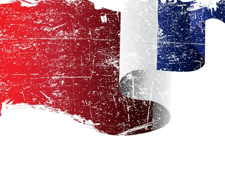 Isolated grunge France flag with copy space Vector