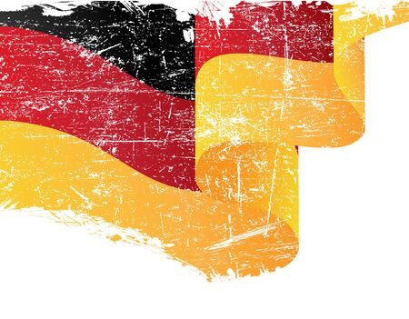 german flag: Isolated grunge German flag with copy space