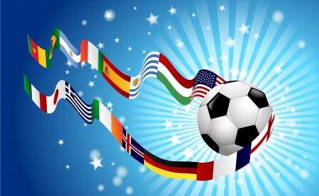 International soccer World top rangking whit flags Stock Vector - 15093157