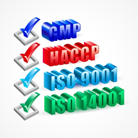 iso: Check list GMP HACCP ISO 9001 and 14001 system