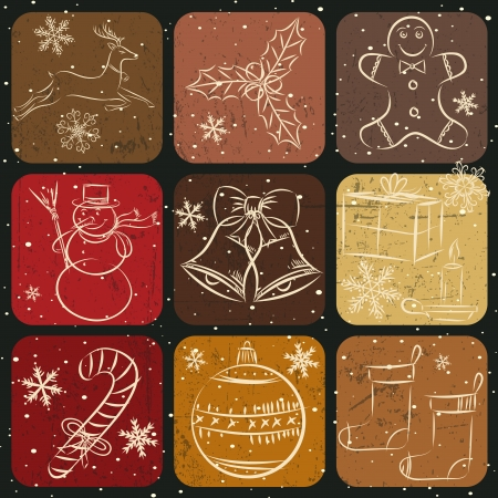 Christmas Collection of hand drawn decoration banner Stock Vector - 15353853