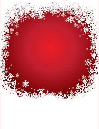 Christmas red background with snowflakes pattern Stock Vector - 15414773