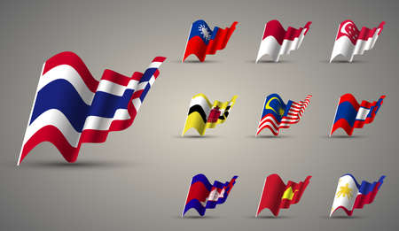 asean: members of ASEAN , ASEAN streaming flags