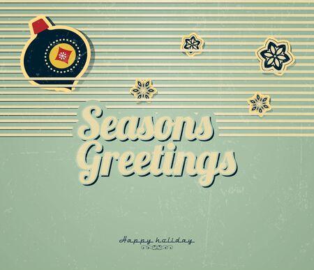 Vintage card with Christmas balls and snowflake Stock Vector - 15644846