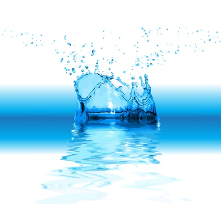 Splash water isolated on white background Vector