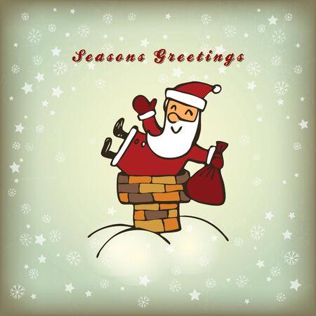 Christmas card with Santa Stock Vector - 15758421