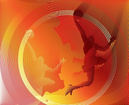 Baloncesto de fondo de líneas Vectores