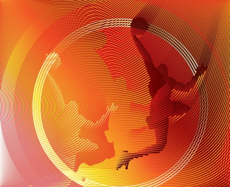 Basketball background from Lines  Vector