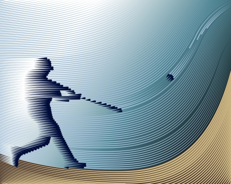 Sports Baseball background from Lines  Illustration