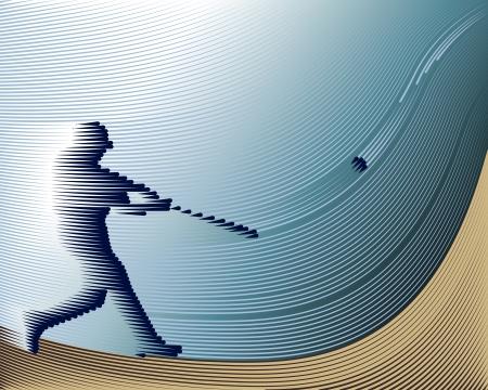 baseball catcher: Sports Baseball background from Lines  Illustration
