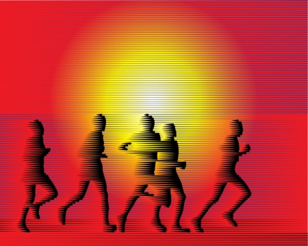 Sports runners background from Lines  Vector