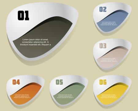 e new: Set of label element, Illustration  Illustration
