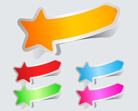 Colorful stickers papers stars  Vector