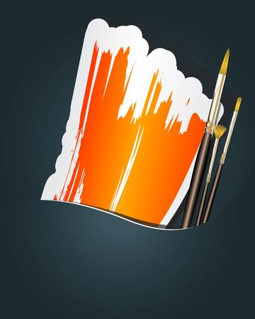 Paint brushes with space for your text Stock Vector - 15976350