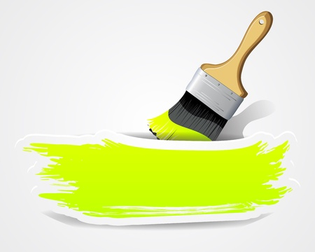 Paint brushes with space for your text Stock Vector - 15976346