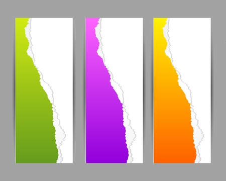 colorful torn paper banner with place for your text Stock Vector - 15976356