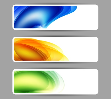 Colored abstract banner with place for your text Vector
