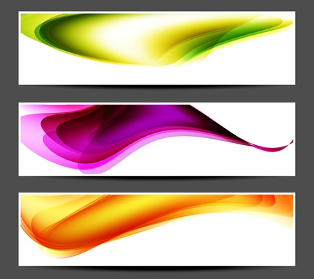 Colored abstract banner with place for your text Stock Vector - 15976360