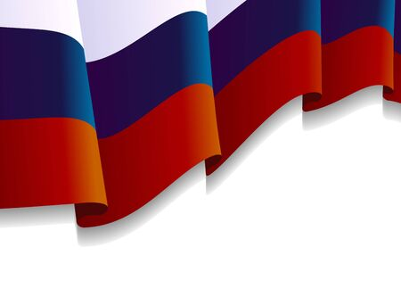 Russian Flag in the Wind with copy space Stock Vector - 15976358
