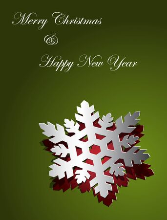 Christmas card design snowflake sticker paper cut Stock Vector - 15976338