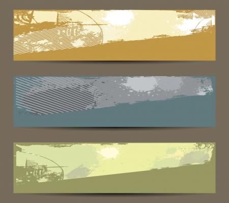 banner grunge hand painted background Vector